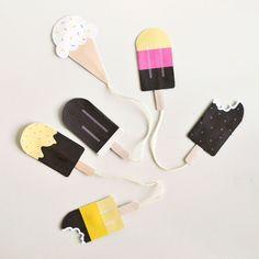 Make popsicle scratch n' sniff bookmarks! Great craft for little hands via Spark & Chemistry