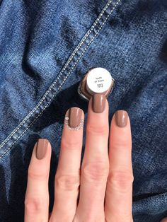 "Essie 'Truth or Bare' from the Wild Nudes Collection is a ""light cinnamon brown with a hint of red,"" and it's gorgeous!!!!!!!"