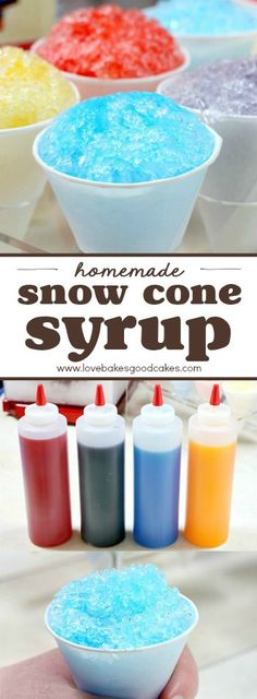 Keep cool this summer and save money with this super simple 3-ingredient Homemade Snow Cone Syrup recipe! AD #SummerDessertWeek