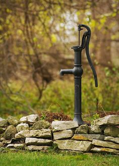 water~ We have one of these.  Not hooked up.  Just for giving the garden an old-fashioned charm