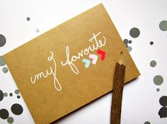 My Favorite Card  Hand Painted Greeting by AshleyPahl on Etsy