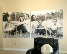 Family photo decor