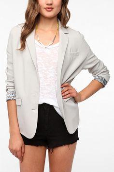 Sparkle & Fade Oversized Crepe Blazer  #UrbanOutfitters- lalalaliiiiiiike