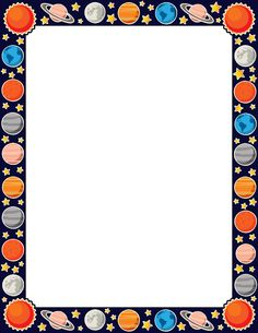 Free planet border templates including printable border paper and clip art versions. File formats include GIF, JPG, PDF, and PNG. Borders For Paper, Borders And Frames, Page Borders Free, Printable Border, Printable Labels, Free Printable, Earth And Space, School Border, Space Classroom