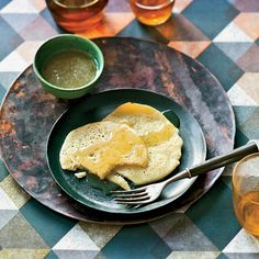Semolina Pancakes   Every morning, cafés in Marrakech serve these crêpes, called begrhir, drizzled with honey or spread with apricot jam.