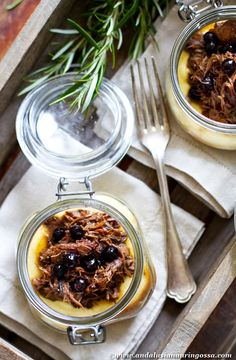 Shoulder of lamb braised in red wine and black currant gelée - simply divine. And check out this mash - made with super nutrient yellow lentils!