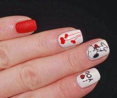 Uñas Decoradas para el Día de San Valentín 25
