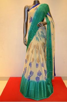 Designer Georgette Silk Saree With Satin Strips Border  Product Code: SSJF03767