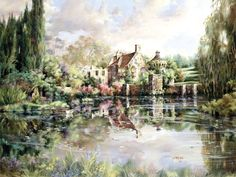"""Summer's Song Scotney"" painting by: Marty Bell"