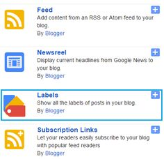 How to add labels/categories widget in blogger?
