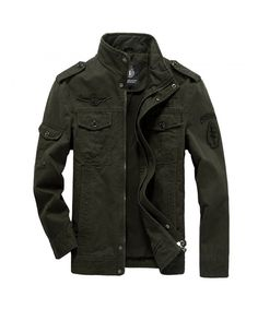 f852564e Army Military Outdoors High quality Stand collar Climbing Jacket XS-4XL |  Men outfits | Mens fashion:__cat__, Bomber jacket men, Tactical jacket