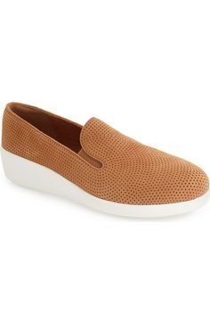 dadf427b7b8 FitFlop™  F-Pop Skate  Perforated Wedge Sneaker (Women) available at