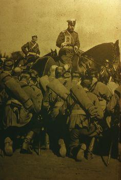 Император Николай II благословляет солдат перед боем-Emperor Nicholas II blesses soldiers before battle