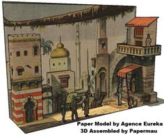 PAPERMAU: A Street At Cairo, Egypt - Vintage Diorama Paper Model by P.Orsoni - via Agence Eureka