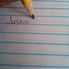 I love Justin Bieber.