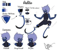 Iolite, he´s new in the Geminoids, he´s weak and that´s why everyone on the Geminoids love to him. He has a crush on Black Star Diopside but they´ve never talked
