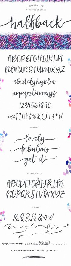 Halfback - A Dry Brushed Script Font by Angie Makes on @creativemarket