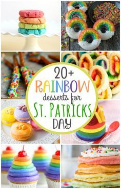 20+ #Rainbow Desserts for #StPatricksDay | Rainbow #desserts are always bright and fun to make anytime but they are perfect for St. Patrick's Day, birthday parties, and even LGBT Pride Day!