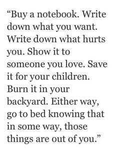 Yes! I love this so much. Nothing is more cathartic than journaling (I'll be burning mine in the backyard though) xx