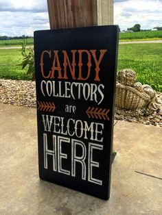 Halloween Decor Halloween Sign Candy Collectors by CharmingWillows