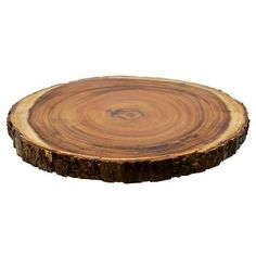 Round Rough Edge Serve Platter Brown - Threshold™