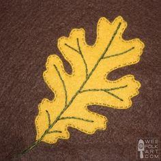 Oak Leaf Applique Block | Wee Folk Art
