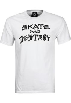 Thrasher Skate and Destroy white Titus Onlineshop