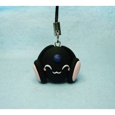 Black Mokona, Keychain,Mobile accessorioes,llavero,colgante movil,fimo,clamp,anime,manga,