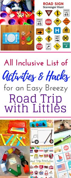 Epic list of ideas of car activities for toddlers for road trips. Road trip ideas for kids and toddlers for long car rides so they never get bored! Easy DIY busy bags, free printables, games, entertainment, and road trip hacks to make the hours fly by. Car Trip Activities, Kids Travel Activities, Toddler Activities, Summer Activities, Diy Camping, Camping Ideas, Camping Hacks, Road Trip With Kids, Travel With Kids