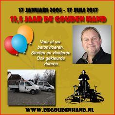 Arjan van Dijk van harte gefeliciteerd met het 12½-jarig jubileum van De Gouden Hand. Ga zo door! https://koopplein.nl/middendrenthe/11954307/de-gouden-hand-van-harte-met-het-125-jarig-bestaan.html