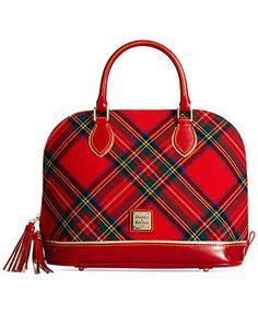 Dooney & Bourke Tartan Zip Zip Satchel - Handbags & Accessories - Macy's