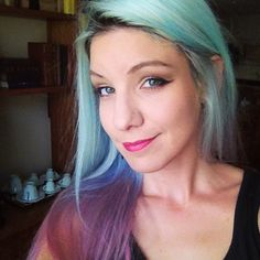 Ombre Dyed Hair Blue and Purple @MariMoon
