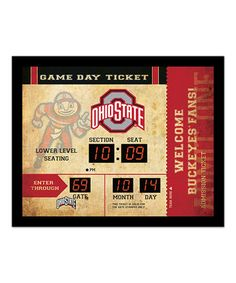 Ohio State Buckeyes Bluetooth Scoreboard Wall Clock
