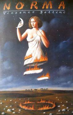 """""""Norma by Bellini"""", Poster by Rafał Olbiński (Polish)"""