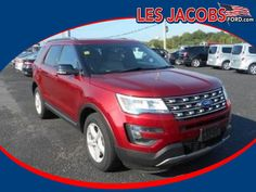 2016 #Ford #Explorer XLT 4x4 4WD 7687 – Ruby Red with Black Interior, V-6 3.5 L, Auto, Reverse sensing with Backup Camera, Ford SYNC System w/My Ford Touch, 3rd row seat, Keyless with Remote Start, Heated Leather Seats, Low Miles! #Used #Cars #Cassville, #MO