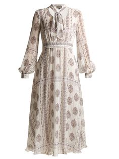 Giambattista Valli India flower-print silk-georgette dress