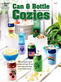 Can & Bottle Cozies Plastic Canvas Pattern