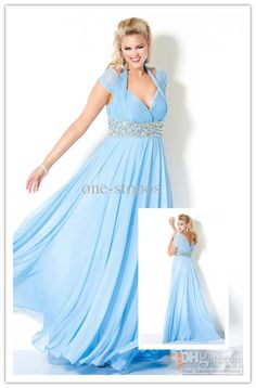 A Line Evening Gown Plus Sizes