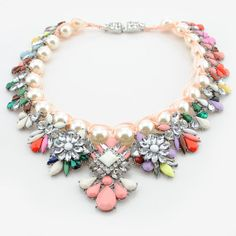 Shourouk Inspired Necklace Rhinestone Necklace by FanDuoDuo, $29.00