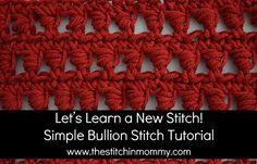 Let's Learn a New Stitch! - Simple Bullion Stitch Tutorial   www.thestitchinmommy.com