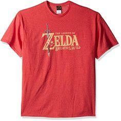 2886e83b Nintendo Men's Zelda Breath of The Wild Link Basic Logo T-Shirt