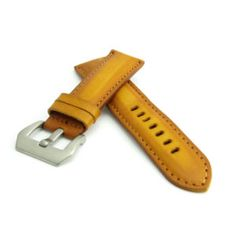Saddle Tan Leather Watch Strap (Steel Buckle) | Straps House