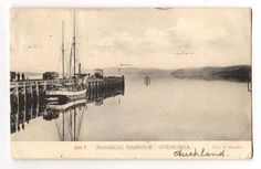 Postcard of Manukau Harbour Onehunga. Superb view of wharf and ship. - 45561 - Postcard - Postcards Auckland Suburbs - Postcards New Zealand - Postcards By Country - EASTAMPS Auckland New Zealand, Historical Photos, Postcards, Bridge, Ship, Country, Pictures, Historical Pictures, Photos