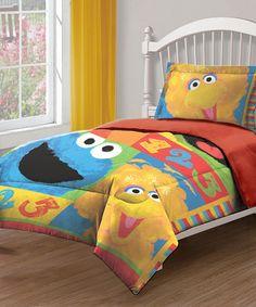 Look what I found on #zulily! Sesame Street Comforter Set by Sesame Street #zulilyfinds