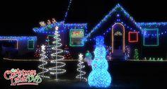 Christmas light displays set to your favorite Christmas carols! www.TheChristmasLightsDVD.com