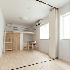 bedroom inspirations for your small bedroom or tiny house Loft Room, Bedroom Loft, Bedroom Decor, Loft Apartment Decorating, Apartment Layout, Loft Bed Studio Apartment, Apartment Living, Apartment Ideas, Living Room