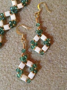 Beaded Tila Bracelet (Peridot). $40.00, via Etsy.