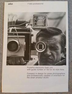 BrAun - F800 Professional Brochure in Cameras & Photo, Manuals & Guides | eBay
