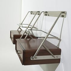 Silvio Cavatorta, attribution / hanging nightstands, pair Modernist Century, 22 May 2005 Auctions Funky Furniture, Cabinet Furniture, Table Furniture, Vintage Furniture, Furniture Design, Crystal Shelves, Wall Shelving Units, Interior Design Business, Mid Century Modern Furniture