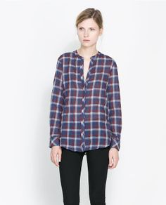 Image 1 of CHECKED BLOUSE from Zara